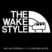 ウェイク ステッカー THE WAKE STYLE【カッティングシート】パロディ シール(12色から選べます) (白)