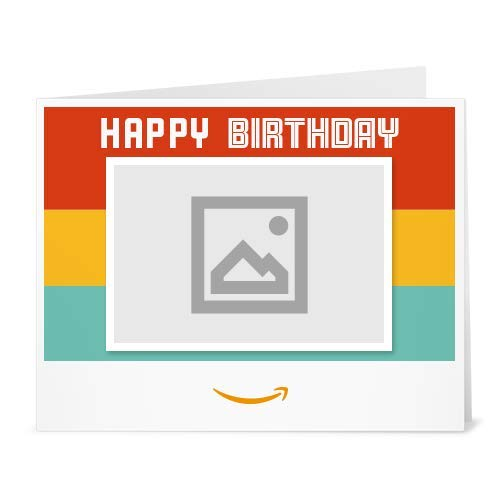 Your Upload - Happy Happy Birthday - Printable Amazon.co.uk Gift Voucher