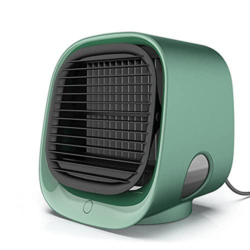 Mini aire acondicionado portátil 7 color LED ajuste humidificador purificador USB escritorio ventilador de refrigeración y tanque de agua hogar 5v-verde