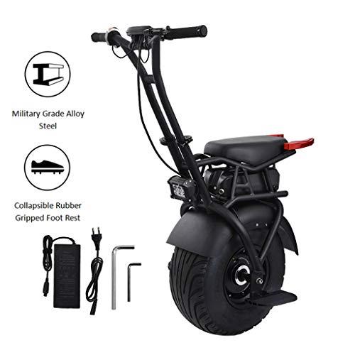 GJZhuan Elektro-Einrad Scooter Selbst Balancing 500W Erwachsene Einzel-Rad-Motorrad Mit Twin Wheel, Mit Stützrad