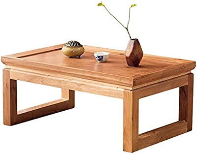 Selected Furniture/Coffee Tables Tatami Coffee Table Modern Bay Window Table Solid Wood Small Desk Living Room Simple Tea Table Side Bedroom Bed (Color : Wood Color, Size : 80 * 50 * 30CM)