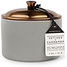 Paddywax Hygge Collection Scented Candle, 5-Ounce, Vetiver + Cardamom