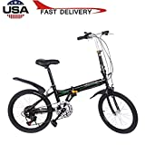 Leisure 20in 7 Speed ??City Folding Mini Compact Bike Bicycle Urban Commuters,Folding Bike Commuter 33lb Lightweight Aluminum Frame