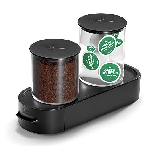 Keurig K-Cup Pod & Ground Coffee Storage Unit, Coffee Storage, Holds up to 12 ounces of Ground Coffee & 12 K-Cup Pods, Black