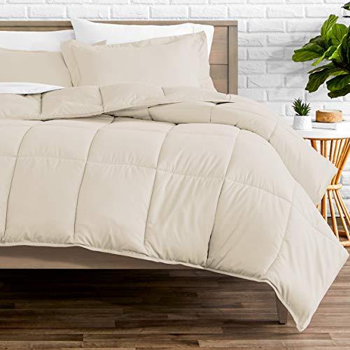Bare Home Comforter Set - Queen Size - Goose Down Alternative - Ultra-Soft - Premium 1800 Series - Hypoallergenic - All Season Breathable Warmth (Queen, Sand)