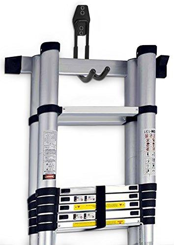Dirza Utility Hooks Wall Mount Tool Holder U-Hooks for Home Garage Storage Organizer Garden Tools Shovels Rake Stroller Ladder Black 5 Pack