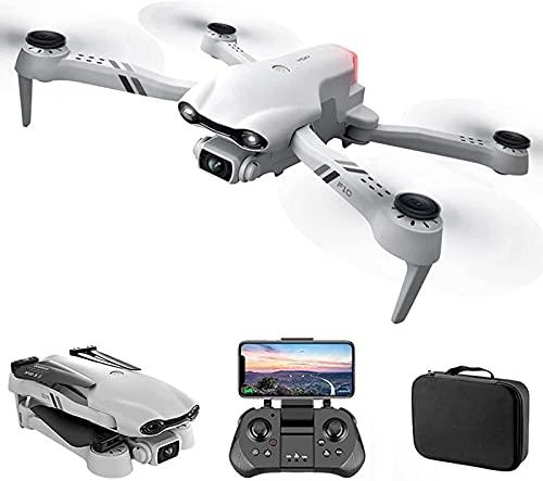 JJDSN Drone con cámara Dual 4K GPS WiFi FPV Drones con Gafas VR Mini RC Quadcopter Sígueme Foto de Gestos, una tecla para Volver a casa, trayectoria de Vuelo, 3 baterías