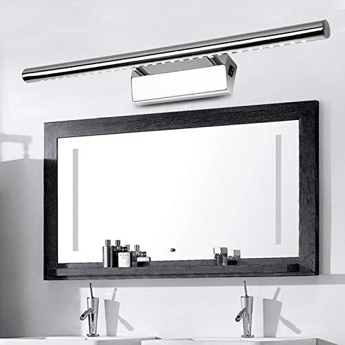 Spiegellampen LED Spiegelleuchte mit Schalter 7W/55cm Neutralweiß(4500K), 490lm, ersetzt 20W Leuchtstoffröhre, Badleuchte Schrankleuchte Wandlampe Wandleuchte Spiegellampe mit Erdungsdraht, 3-Jahre Garantie
