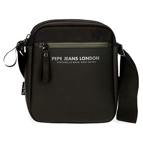 Pepe Jeans Sail Bandolera Negro 17x22x6 cms Poliéster y PU