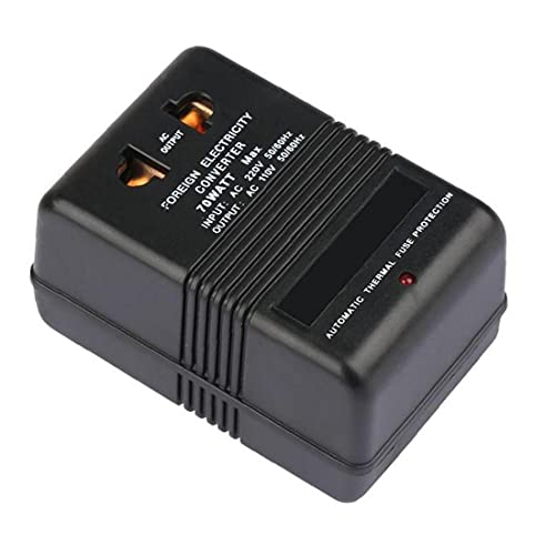 NIDONE Adaptador de Viaje Voltage Converter 220V a 110V Step DOW Down Converter 70W inversor eléctrico convertidor de Electricidad Negro