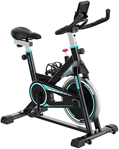 Bicicleta Estática Resistencia Ajustable con Pantalla LCD y Monitor de Frecuencia Cardíaca, Bicicleta Estática para Interior Fitness en casa y ejercicios cardio. Bikes