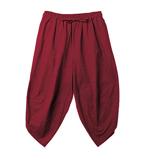 Pantalones Harem para Niños Pantalones Aladdin Pantalones Bombachos Pantalones De Ropa Lino De Pierna Ancha Pantalones De Harén Sueltos Hippie De Color Sólido Verano Pantalones