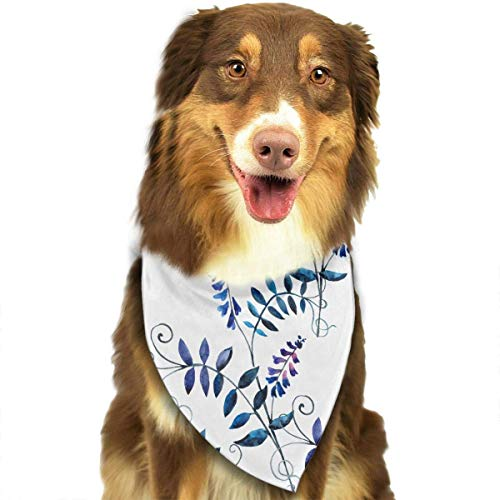 iuitt7rtree Halstuch, waschbar, Wasserfarben, Dreieck, einzigartiges und nie veraltetes Design, für Haustiere, Katzen und Hunde