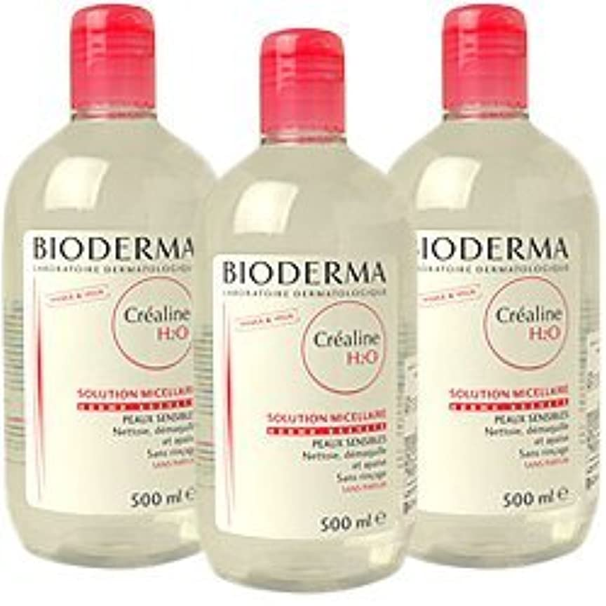 無駄なアセンブリなめらかビオデルマ(BIODERMA) サンシビオ H2O (エイチ ツーオー) D 500ml 3本セット[並行輸入品]