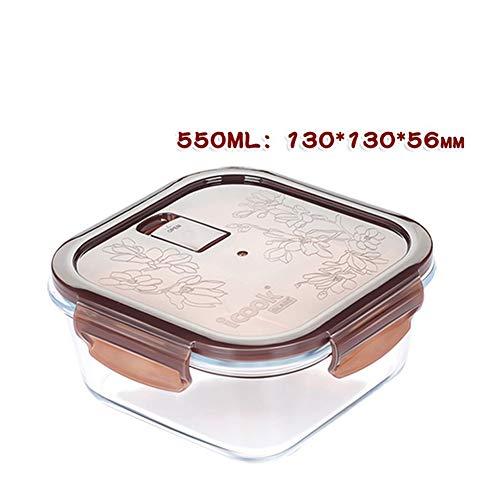 Yvonnelee Glazen container met deksel Meal Prep voorraaddozen luchtdicht met glazen pot vershouddozen perfect als opslag voor oven, magnetron, vriezer