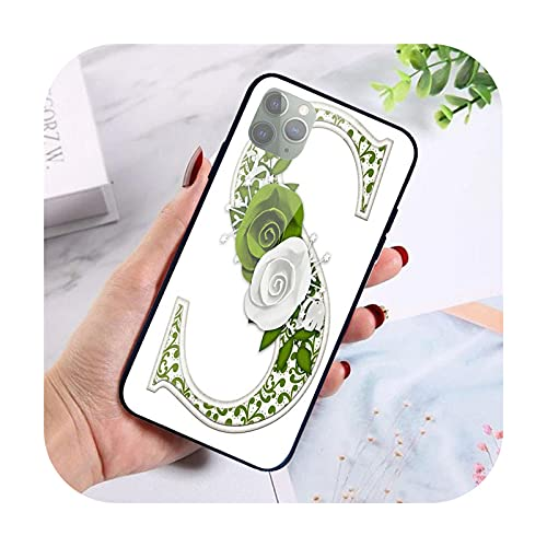 Para iPhone X XR XS 11 12 Pro Max 8 7 5 5S SE 2020 6S 6 Plus Shell vidrio templado teléfono móvil Carta humo S wallpaper-Imge 2-Para iPhone 5 5S SE