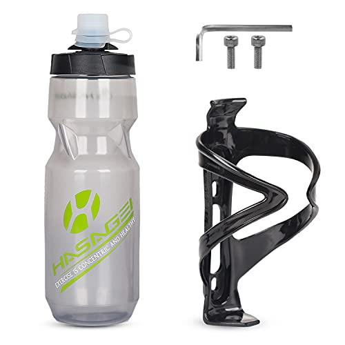 HASAGEI Fahrrad Flaschenhalter mi 24 oz fahrradflasche, Leicht getränkehalter Fahrrad mit Schrauben - BPA frei Fahrrad trinkflasche für Fahrrad, Rennrad, Mountainbikes, Elektrofahrräder