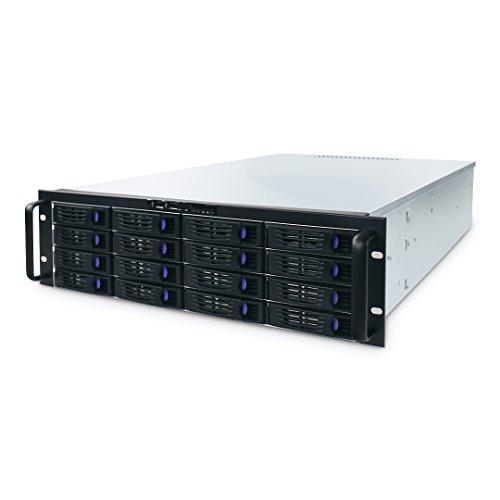 Fantec SRC-3168X07 Storage server Rack (3U) Black,Silver - NAS & Storage Servers (HDD, Serial ATA II, 2.5/3.5', Rack (3U), Active, Black, Silver)