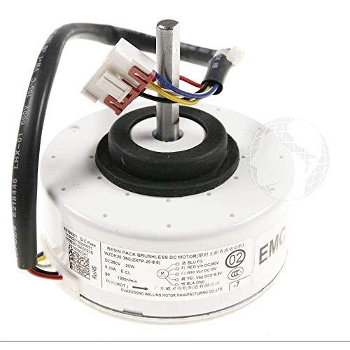 Motor ventilador (ORIGINAL Beko) para aire acondicionado unidad interior, DC 280 V - 20 W, código del recambio: 9178007178