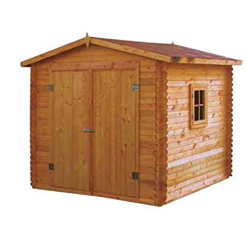Gartenhaus Alicante behandeltes Holz Blockbohlen 245 X 245 X 230 (H) CM
