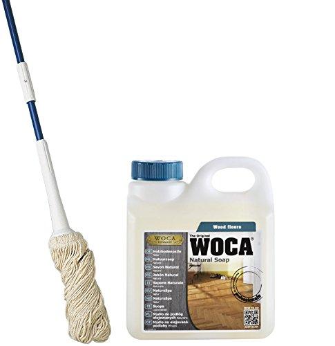 Woca Swep Mop Blau mit Woca Natürliche Seife 1L