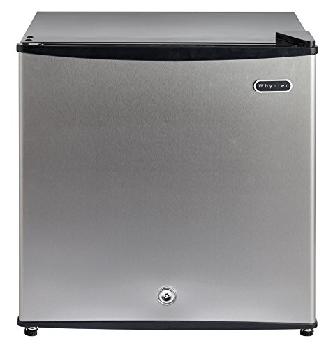 Whynter 1.1 cu. ft. Energy Star Upright Freezer with Lock - Stainless Steel