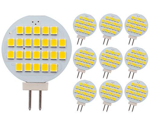 GLMING G4 24-2835 SMD LED-Lampe Superhelle, warmweiße AC / DC12V-24V 10er-Pack