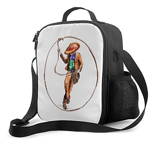 Isolierte Lunch-Tasche Charro Mexicano (mexikanischer Cowboy-Reiter) Pullover Hoodie Tragbare Wärmeisolierung Kalte Lunch-Tasche Picknick-Büroschule