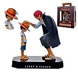 SZSOZD Anime One Piece Monkey D Luffy & Shanks Escenas en Movimiento 18cm PVC Colección de acción Fi...