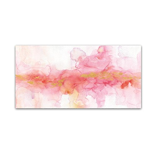 Rainbow Seeds Abstract Gold Ornate Frame by Lisa Audit, 24x47-Inch Canvas Wall Art