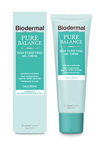 Biodermal Pure Balance Skin Purifying Dagcreme Gel-Crème - Dagcreme met hyaluronzuur geeft intensieve hydratatie, verbetert de vochtbalans en elasticiteit van de huid - 50ml