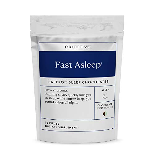 Objective - Fast Asleep Non-Melatonin Sleep Chocolate Mints with Saffron and GABA - 30 Pieces