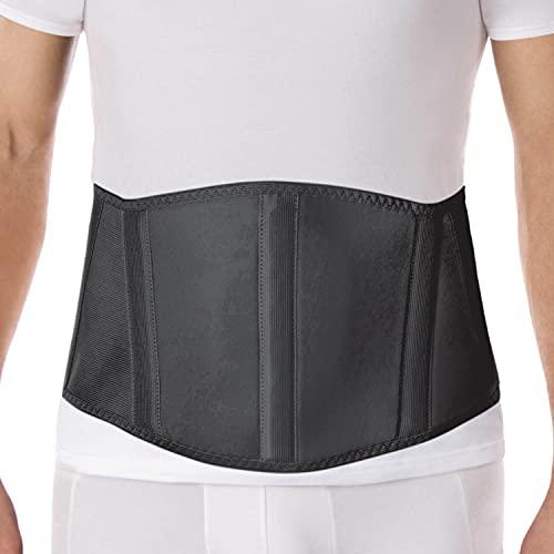 Original Ergonomic Umbilical Navel Hernia Belt (New Model) / Abdominal Support Brace Medium Black