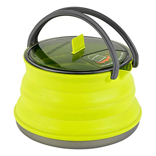 Sea to Summit X-Pot Kettle Collabsible Camping Cook Pot with Lid, 1.3 Liter, Lime