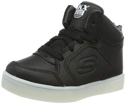 Skechers Baby-Jungen Energy Lights Sneaker, Schwarz (Black), 25 EU