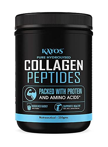 Kayos Collagen Peptides (Hydrolyzed) Powder Protein Supplement Type 1 and 3 with Glucosamine and Methylcobalamin - 250g