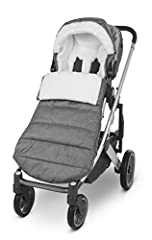 Compatible with all UPPAbaby strollers and rumbleseats Cozy fleece lining adds warmth and comfort Hood adjusts to child and rolls over the back of seat when not in use Grips on Back prevent sliding in the seat Grows with child using zip out extension...
