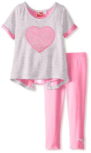 PUMA Little Girls' Open Back Double Knit Set