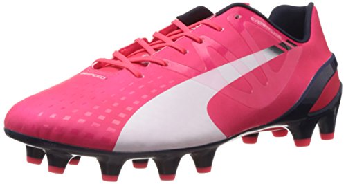 Puma Evospeed 1.3 FG, Botas de fútbol para Hombre, Rojo - Rot (Bright Plasma-White-Peacoat 04), 44 EU
