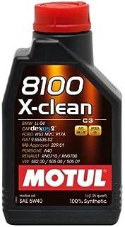 Motul 5 Liter 8100 5W40 X-CLEAN C3 -505 01-502 00-505 00-LL04-229.51-229.31-Porsche A40-FORD 917A-GM Dexos2