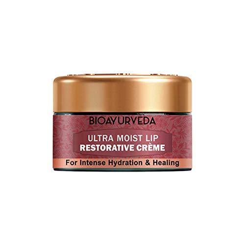 BIOAYURVEDA Natural and Herbal Ultra Moist Lip Restorative Cream | Dry Chapped Dark Lip Lightening Balm For Men & Women - 20 gm
