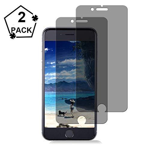 [2-Pack]JchanMing iPhone 8 Plus 7 Plus Tempered Glass Privacy Screen Protector [No Bubbles][9H Hardness] Compatible with Apple iPhone 8 Plus and iPhone 7 Plus and iPhone 6 Plus Privacy