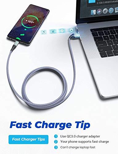 Micro USB Kabel 2 Stück 2M, Ladekabel Samsung AINOPE Nylon Handy Micro Kabel, Samsung Galaxy s7 Schnellladekabel für Samsung S7/ S6 / J7/ Note 5,Huawei,Wiko,Nexus,Motorola,Nokia,Echo Dot-Grau