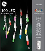GE Color Effects 100 LED Multi-Function Color Changing Christmas Icicle Lights with Remote Control
