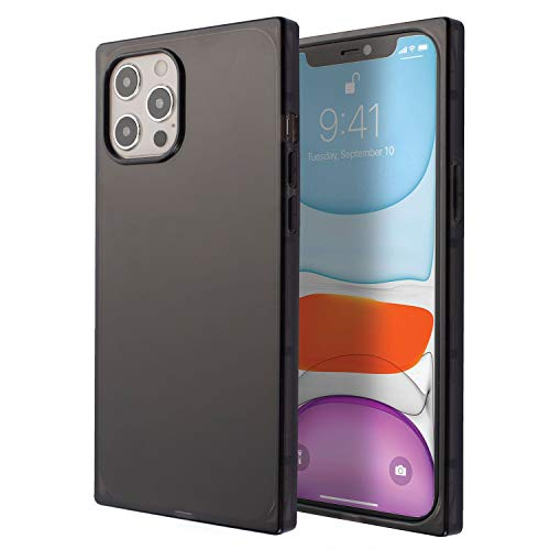 Insten Square Case Compatible with iPhone 12 Pro Max Case 6.7 Inch, Soft TPU Protective Cases with Reinforced Corners, Shock Absorption, Crystal Clear Black Slim Cover for Women Girls