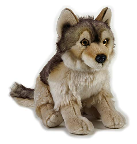 National Geographic- Wolf Peluche, Color Gris (9770758)