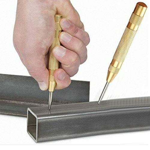 RONSHIN Populair voor 5 Inch Automatische Center Pin Punch Lente Gemarkeerde Markering Startgaten Gereedschap Hout Druk Dent Marker Houtwerk Boor, Golden common