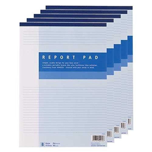 (まとめ買い)ジョインテックス レポート用紙5冊パック A4B罫 P008J-5P 【×10セット】