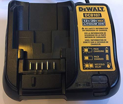 DE-WALT Max Li-ion Battery Charger, Tool Battery Chargers (DW-CB107 12V/20V Max Li-ion Battery Charge)