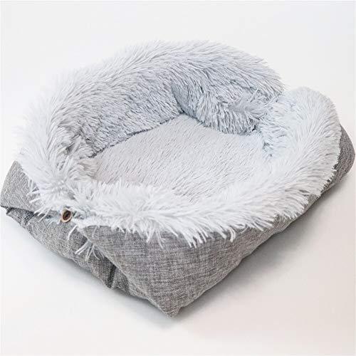 CSFEN Colchón extraíble para perros pequeños y medianos, manta cálida de invierno, manta plegable para mascotas, sofá para perros y gatos (color: gris)